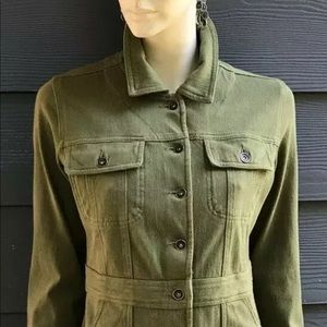 Coldwater Creek Women Jacket Sz PS Green Stretch